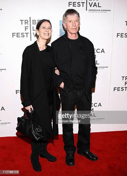 Carol Schwartz and actor Scott Glenn attends the Tribeca Film Festival American Express Cinema Society Premiere Of The Bang Bang Club at BMCC Tribeca...