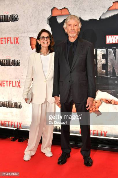 Carol Schwartz and Scott Glenn attend the Marvel's The Defenders New York Premiere at Tribeca Performing Arts Center on July 31 2017 in New York City