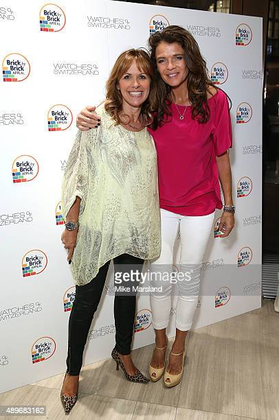 Carol Smillie and Annabel Croft attend The Prince Princess Of Wales Hospice charity event at Watches of Switzerland on September 23 2015 in London...