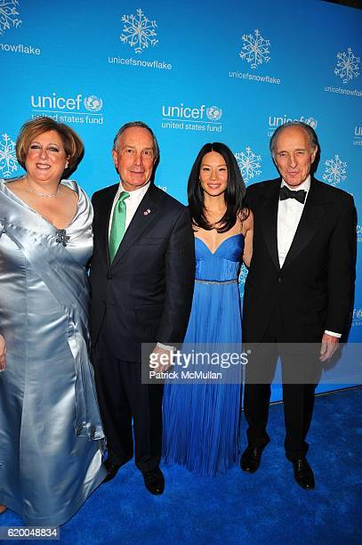 Carol Stern Mayor Michael Bloomberg Lucy Liu and Anthony Pantaleoni attend UNICEF 2008 SNOWFLAKE BALL at Cipriani 42nd NYC on December 3 2008