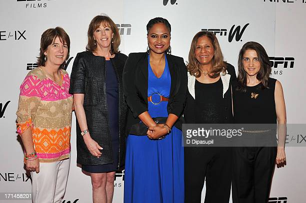 Carol Stiff Jane Rosenthal Ava DuVernay C Vivian Stringer and Bess Kargman attend the 'Venus Vs' and 'Coach' screenings at the Paley Center For Media...