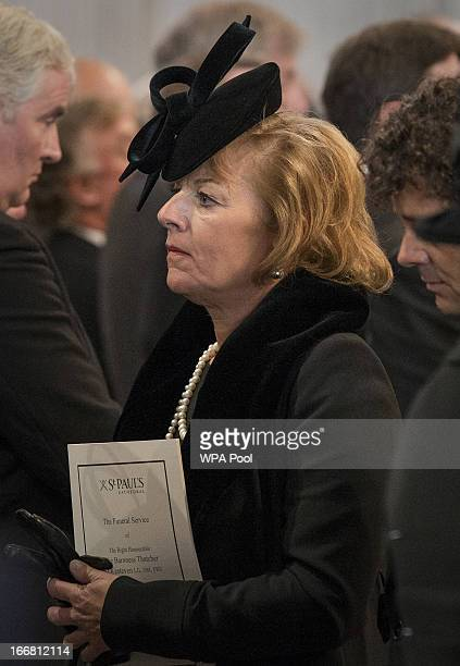 Carol Thatcher attends the Ceremonial funeral of former British Prime Minister Baroness Thatcher at St Paul's Cathedral on April 17 2013 in London...