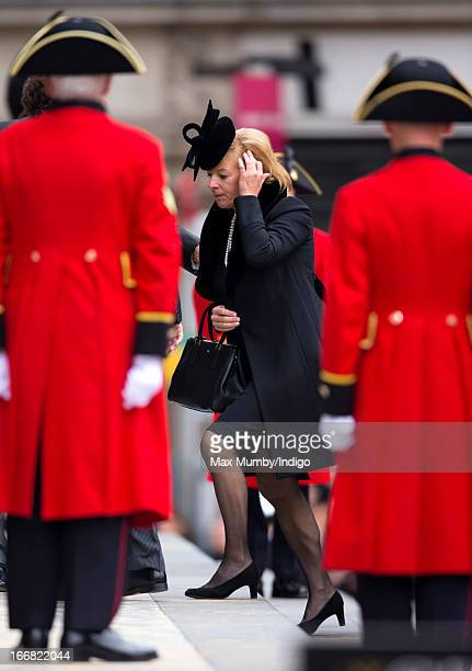 Carol Thatcher attends the funeral of former British Prime Minister Baroness Margaret Thatcher at St Paul's Cathedral on April 17 2013 in London...