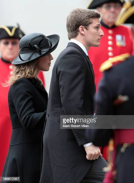 Carol Thatcher sighting during the funeral of former British prime minister Margaret Thatcher on April 17 2013 in London England