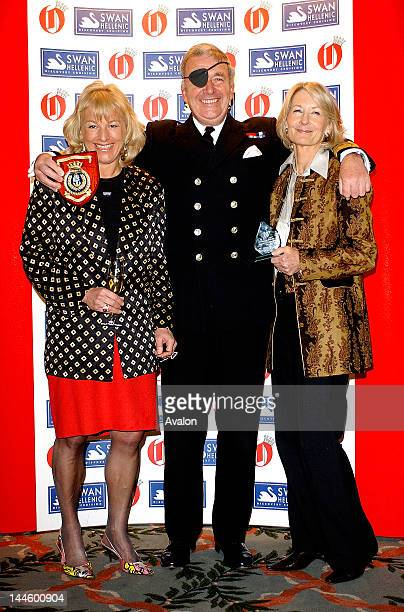 Carol Thatcher winner of the 'Ball Cruncher Of The Year' Britain's First Sea Lord Admiral Sir Alan West winner of The Swan Hellic Sea Dog of the Year...
