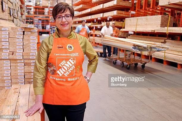 Carol Tome, chief financial officer of Home Depot Inc., poses for a photo at a Home Depot store in Atlanta, Georgia, U.S., on Thursday, Oct. 28,...