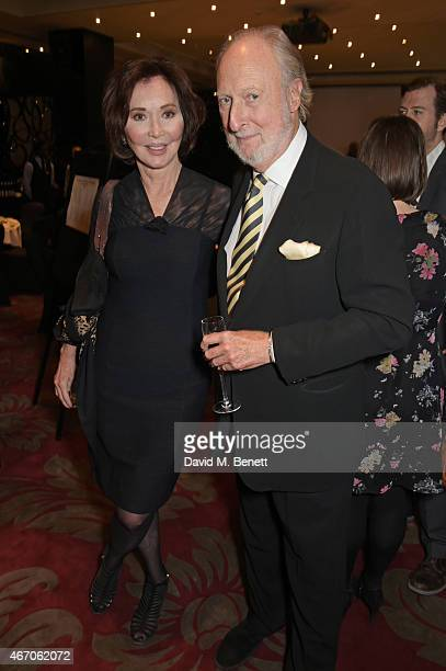 Carol Victor and Ed Victor attend the Mel Brooks BFI Fellowship Dinner at The May Fair Hotel on March 20 2015 in London England