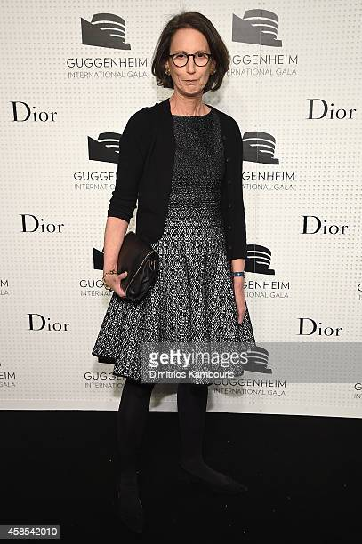 Carol Vogel attends the Guggenheim International Gala Dinner made possible by Dior on November 6 2014 in New York City