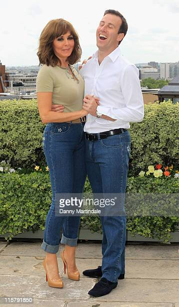 Carol Vorderman and Anton de Beck are voted as Wizard Jeans Rear Of The Year 2011 at The Dorchester on June 8 2011 in London England