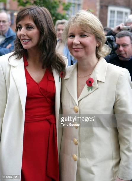 Carol Vorderman and Kathryn Apanowicz during Memorial Service for Richard Whiteley at York Minster at York Minster in York Yorkshire Great Britain