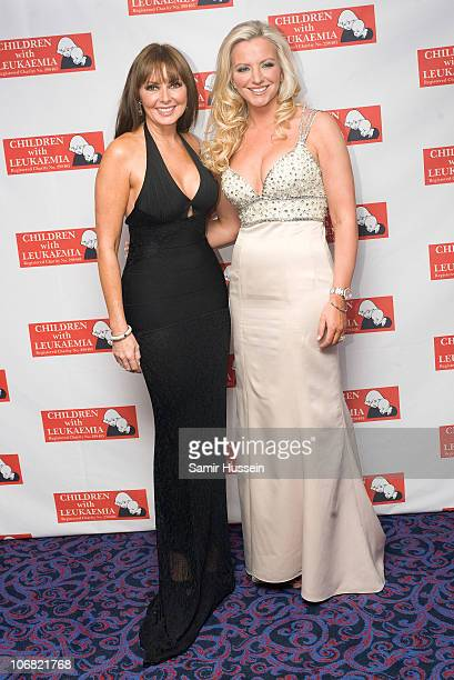 Carol Vorderman and Michelle Mone attend the Marion Rose Ball in aid of Children with Leukaemia at the Grosvenor House Hotel on Novemer 13 2010 in...