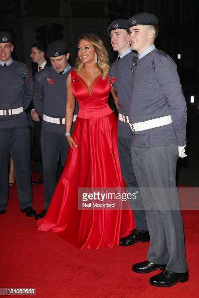 Carol Vorderman arrives on the red carpet of Pride of Britain 2019 at Grosvenor House Hotel on October 28 2019 in London England