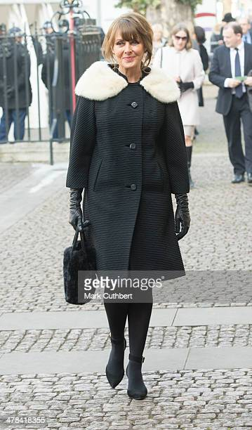 Carol Vorderman attends a memorial service for Sir David Frost at Westminster Abbey on March 13 2014 in London England