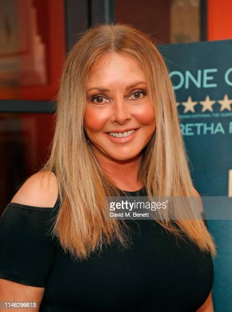 "Carol Vorderman attends a special screening of ""Amazing Grace"" at The Ham Yard Hotel on May 01, 2019 in London, England."