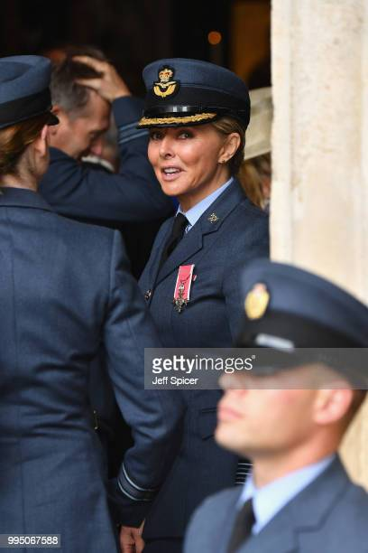 Carol Vorderman attends as members of the Royal Family attend events to mark the centenary of the RAF on July 10 2018 in London England