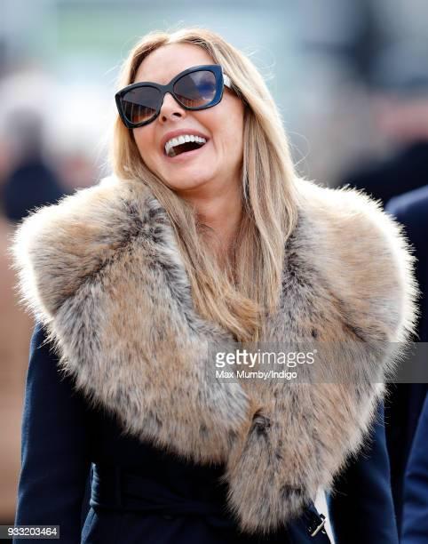 Carol Vorderman attends day 3 'St Patrick's Thursday' of the Cheltenham Festival at Cheltenham Racecourse on March 15 2018 in Cheltenham England