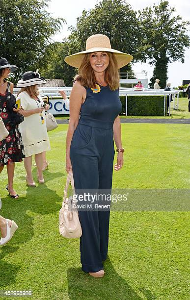 Carol Vorderman attends Glorious Goodwood Ladies Day at Goodwood on July 31 2014 in Chichester England