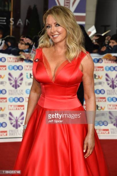 Carol Vorderman attends Pride Of Britain Awards 2019 at The Grosvenor House Hotel on October 28 2019 in London England