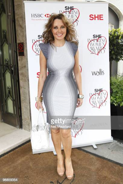 Carol Vorderman attends SHE Inspiring Women Awards on May 5 2010 in London England