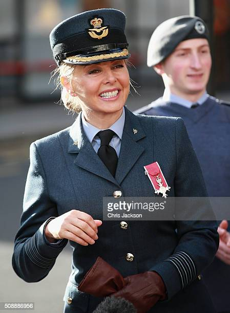 Carol Vorderman attends the 75th Anniversary of the RAF Air Cadets at St Clement Danes Church on February 7, 2016 in London, England.