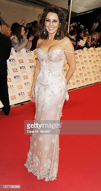Carol Vorderman attends the National Television Awards 2012 at the O2 Arena on January 25 2012 in London England