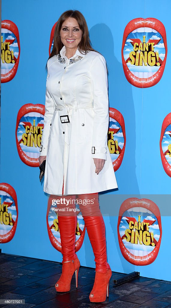 Carol Vorderman attends the press night of 'I Can't Sing! The X Factor Musical' at London Palladium on March 26, 2014 in London, England.