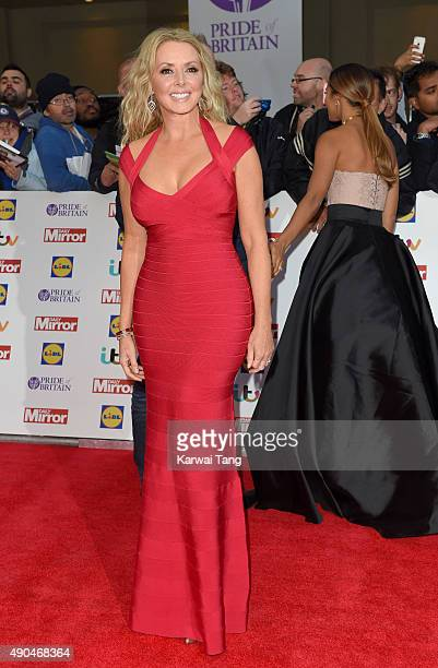 Carol Vorderman attends the Pride of Britain awards at The Grosvenor House Hotel on September 28 2015 in London England