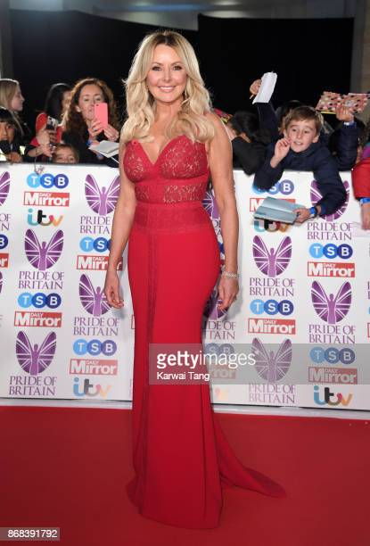 Carol Vorderman attends the Pride Of Britain Awards at the Grosvenor House on October 30, 2017 in London, England.