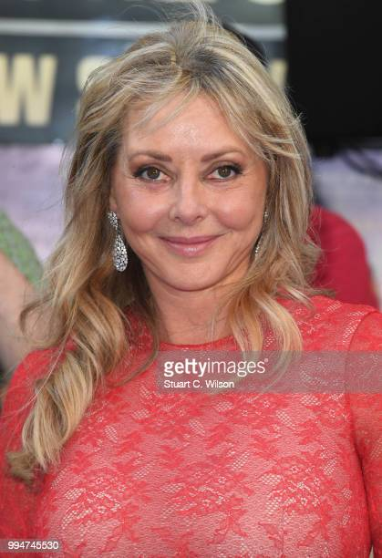 Carol Vorderman attends the World Premiere of 'Spitfire' at The Curzon Mayfair on July 9 2018 in London England