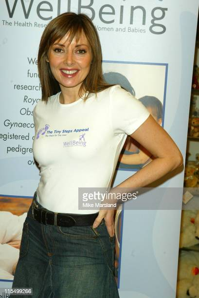 Carol Vorderman during Carol Vorderman Launches Special Appeal To Help Premature babies at Hamleys Toy Store in London Great Britain