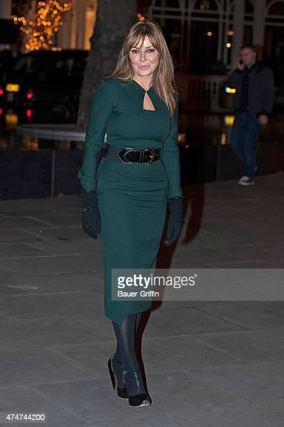 Carol Vorderman is seen on November 22 2012 in London United Kingdom