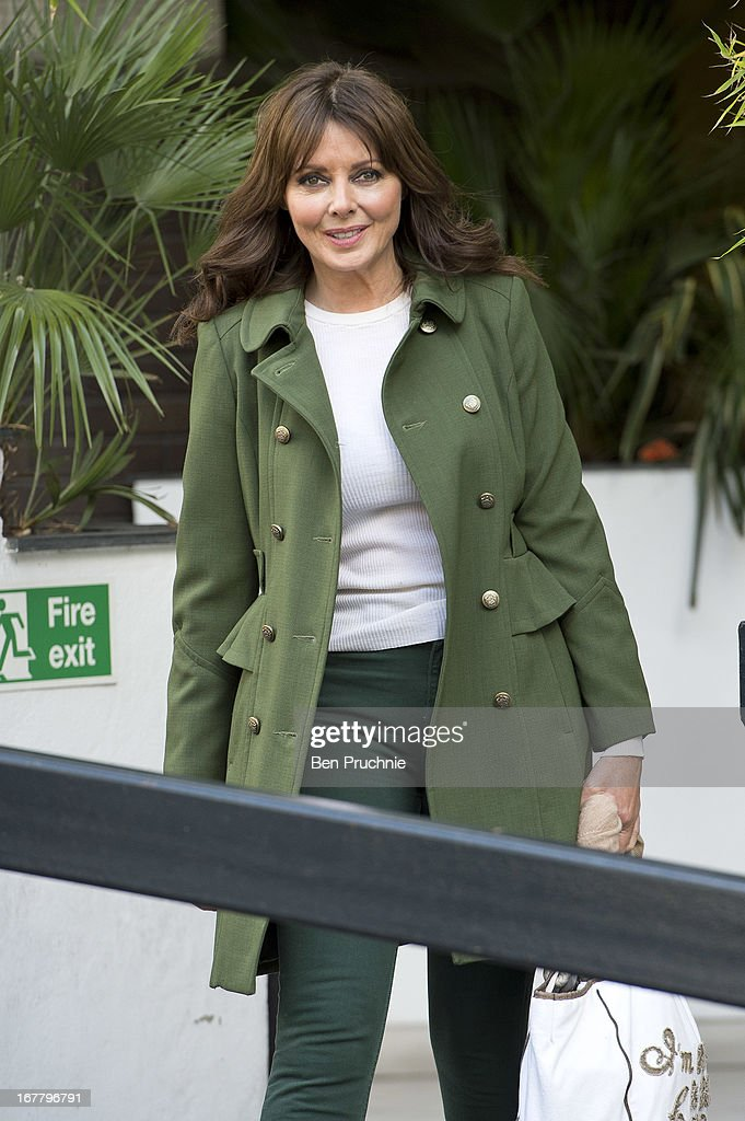Carol Vorderman is sighted departing ITV Studios on April 30, 2013 in London, England.