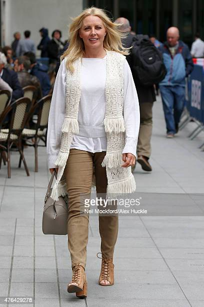 Carol Vorderman seen at the BBC Studios on June 9, 2015 in London, England.