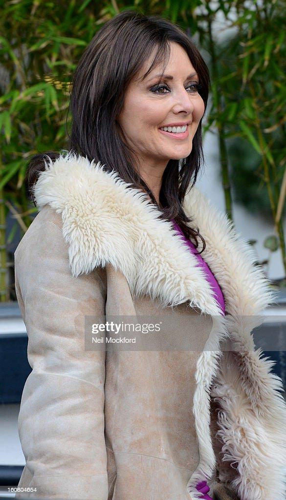 Carol Vorderman seen at the ITV Studios on February 6, 2013 in London, England.