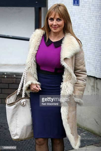 Carol Vorderman seen at the ITV Studios on January 2, 2013 in London, England.