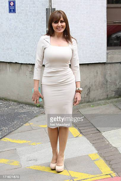 Carol Vorderman seen at the ITV Studios on June 27 2013 in London England