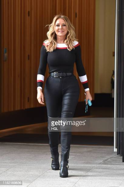 Carol Vorderman seen at the ITV Studios on May 28, 2019 in London, England.
