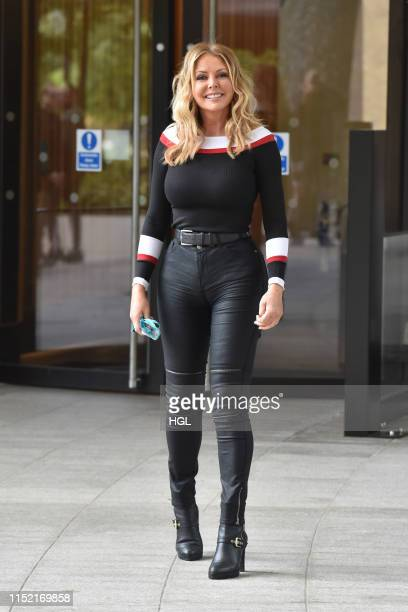 Carol Vorderman seen at the ITV Studios on May 28 2019 in London England