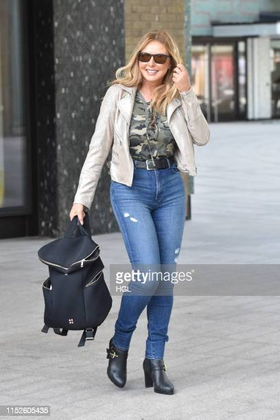 Carol Vorderman seen at the ITV Studios on May 30 2019 in London England
