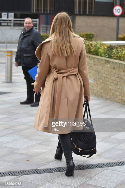 Carol Vorderman seen at the ITV Studios on November 05 2019 in London England
