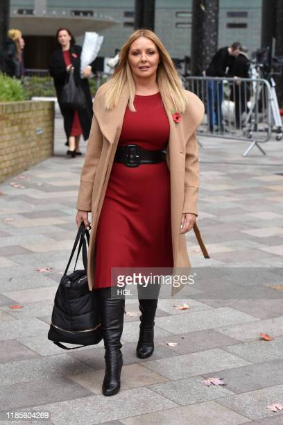 Carol Vorderman seen at the ITV Studios on November 05, 2019 in London, England.