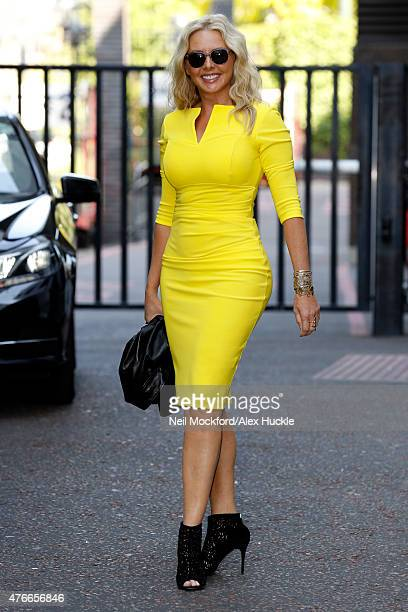 Carol Vorderman seen leaving the ITV Studios after an appearance on 'Lorraine' on June 11 2015 in London England