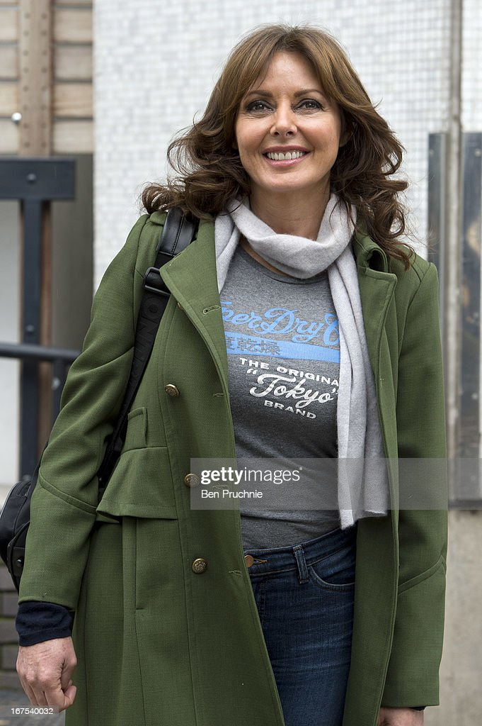Carol Vorderman sighted departing ITV Studios on April 26, 2013 in London, England.
