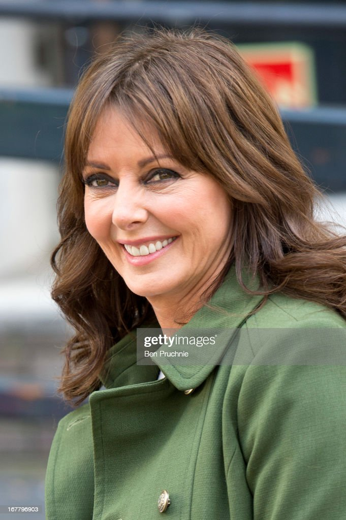 Carol Vorderman sighted departing ITV Studios on April 30, 2013 in London, England.