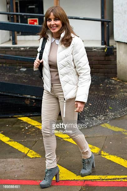 Carol Vorderman sighted departing ITV Studios on May 28 2013 in London England