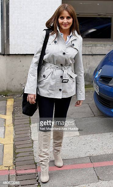 Carol Vorderman sighted leaving the ITV Studios after an hosting 'Loose Women' on March 26 2014 in London England