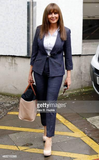 Carol Vorderman sighted leaving the ITV Studios after hosting 'Loose Women' April 7 2014 in London England