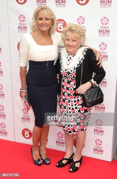 Carol Wright and Nanny Pat arriving for the Tesco Mum of the Year Awards at The Savoy hotel in central London