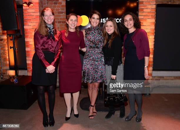 Carola Corti Sheri Levy Cobie Smulders Lori Bieda and Aviva Klein attend the Mastercard's Masterpass campaign launch event held at Baro on December 6...