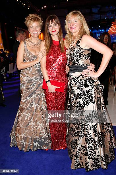 Carola Ferstl Alexandra Kamp and Nanna Kuckuck attend the Goldene Kamera 2014 at Tempelhof Airport on February 01 2014 in Berlin Germany